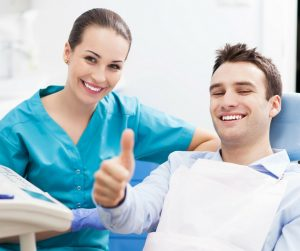 male patient and female dentist