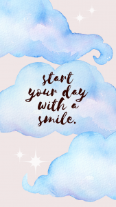 start your day with a smile iphone wallpaper