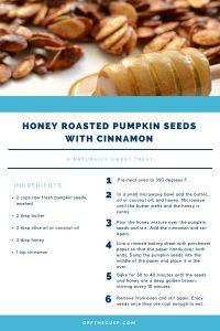honey roasted pumpkin seeds with cinnamon recipe