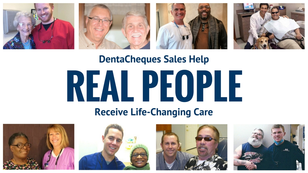 DentaCheques Sales Help Real People Receive Life-Changing Care