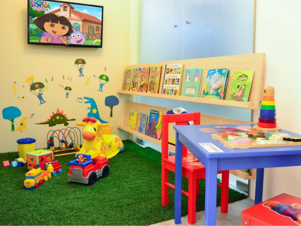 play area at pediatric dentist