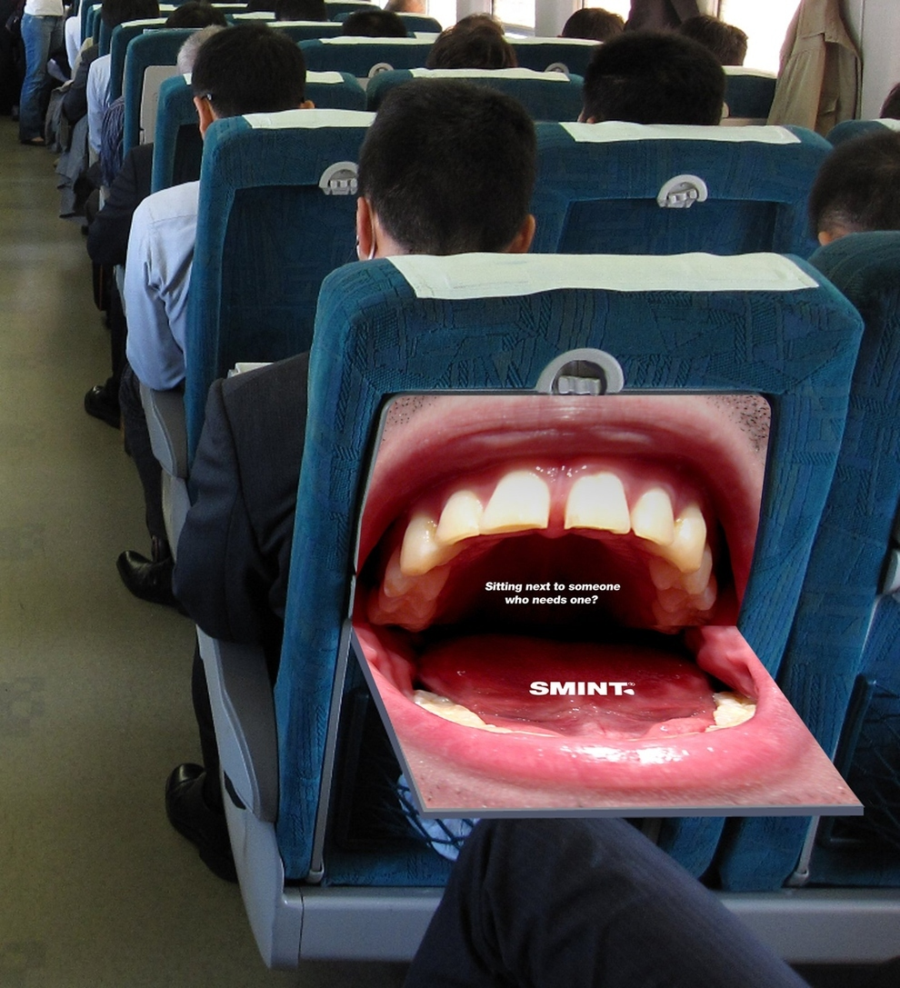 smint airplane creative dental advertising