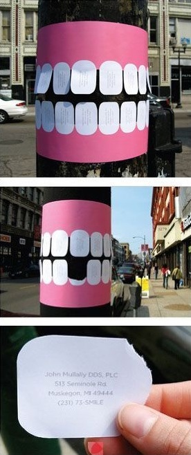tear off dental ads