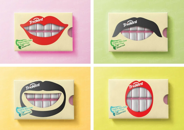 trident gum packaging smile examples