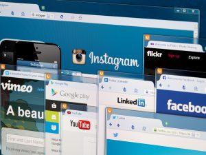 social media webpages