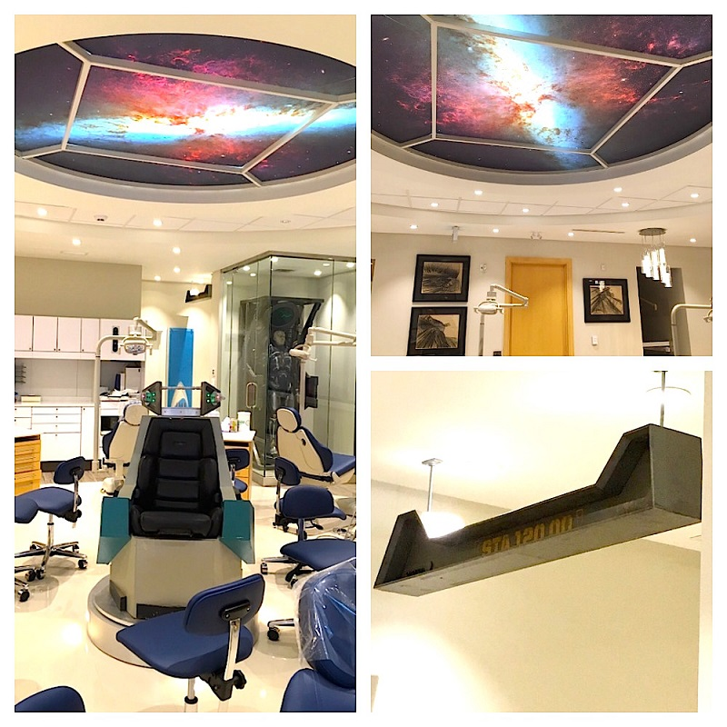 aurora borealis operatory with starry ceiling
