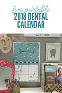 free printable 2018 dental calendar