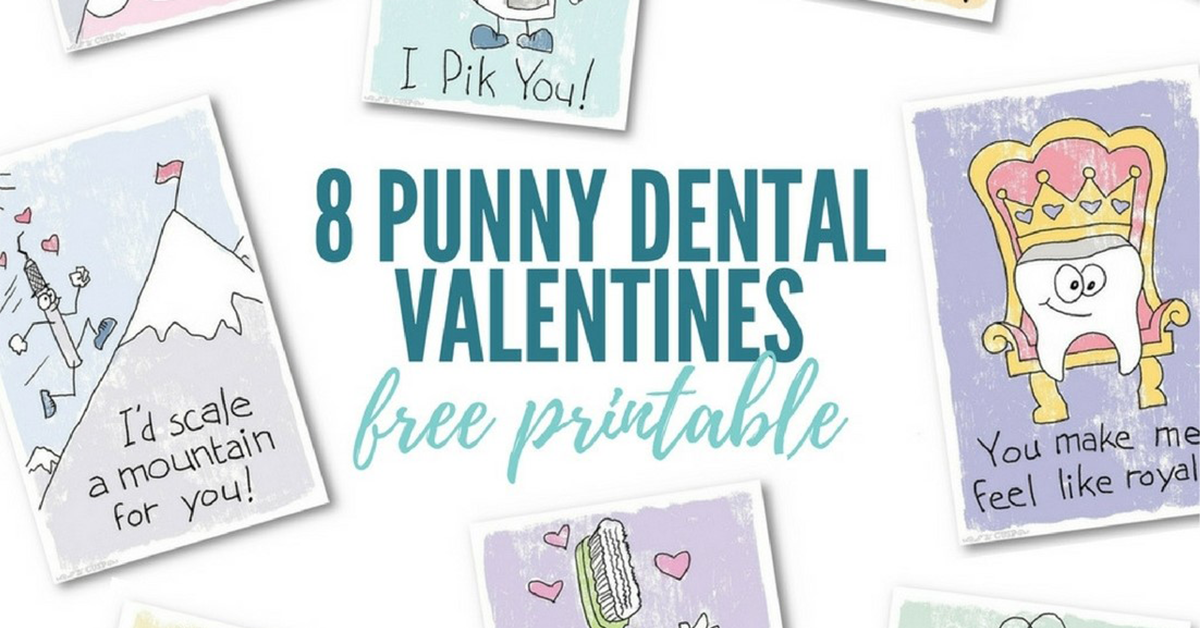 8 punny valentines cards from Patterson Dental