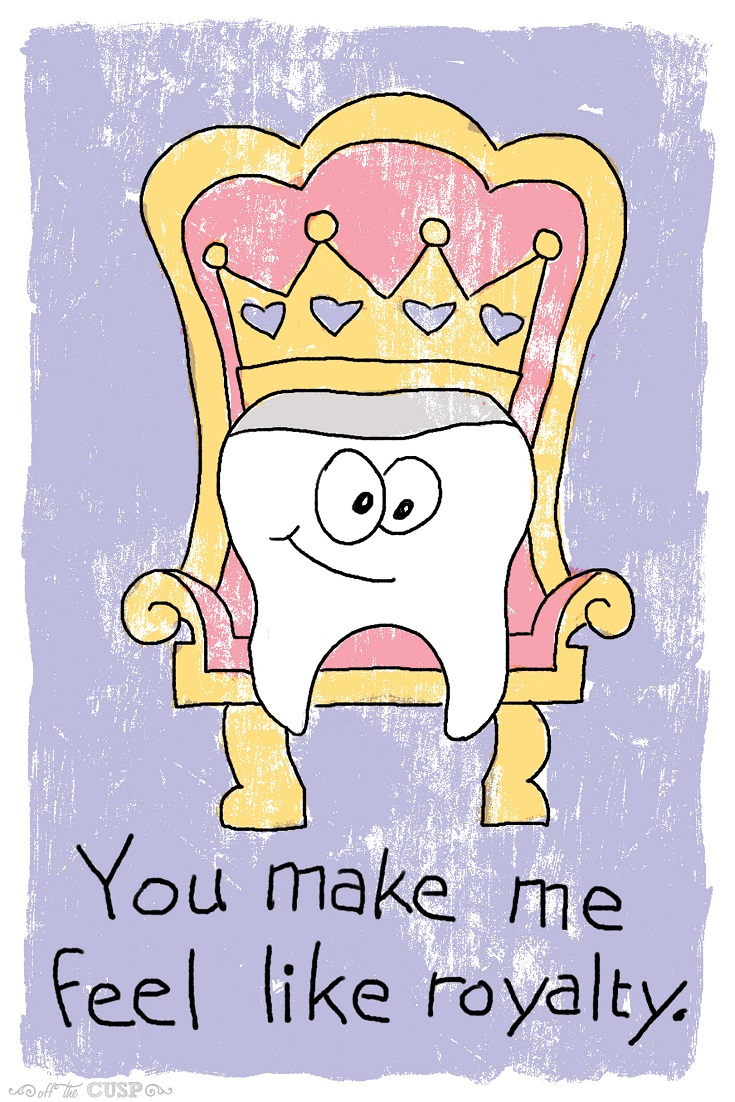 like royalty dental pun valentine