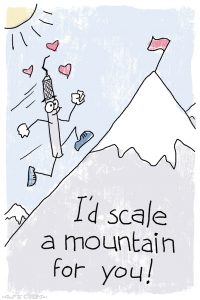 Scale a Mountain Dental Pun Valentine