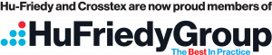 Hu-Friedy and Crosstex HuFriedyGroup logo.