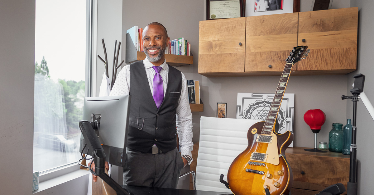 Jeffrey S. Butts, DDS, at his office in Atlanta.